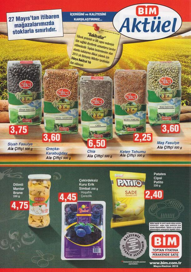BİM Market 27.05.2016 İndirim Katalogu - Ala Çiftçi