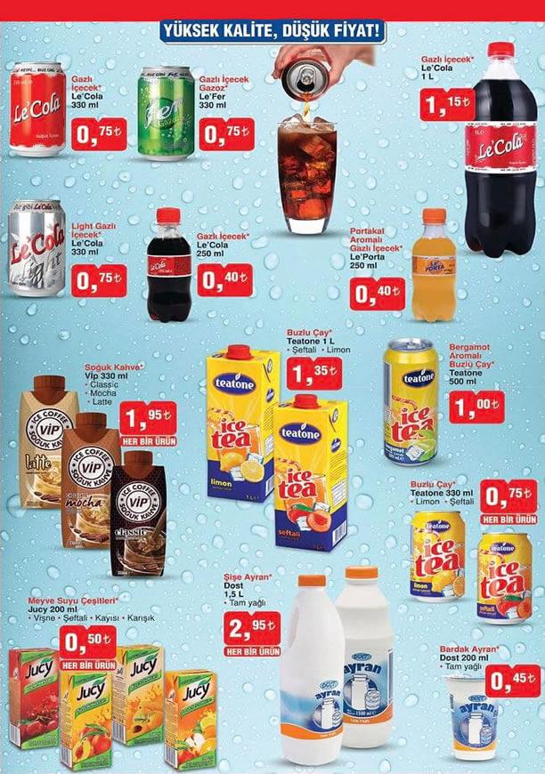 BİM Market Nisan Katalogu - İcecek Fiyatları