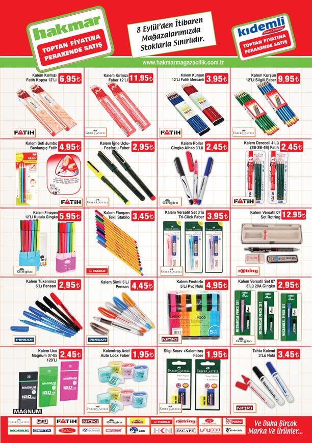 HAKMAR 08.09.2016 Aktüel Ürünler Katalogu - Kırtasiye Malzemeleri