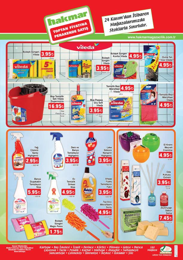 HAKMAR 24 Kasım - 30 Kasım 2016 Katalogu - Temizlik Ürünleri