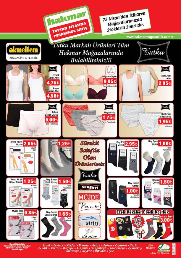 HAKMAR 28 Nisan - 3 Mayıs 2016 Katalogu - İç Giyim