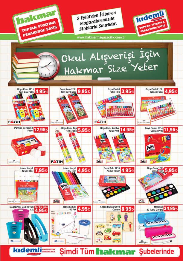 HAKMAR Aktüel 8 Eylül 2016 Katalogu - Okul Eşyaları