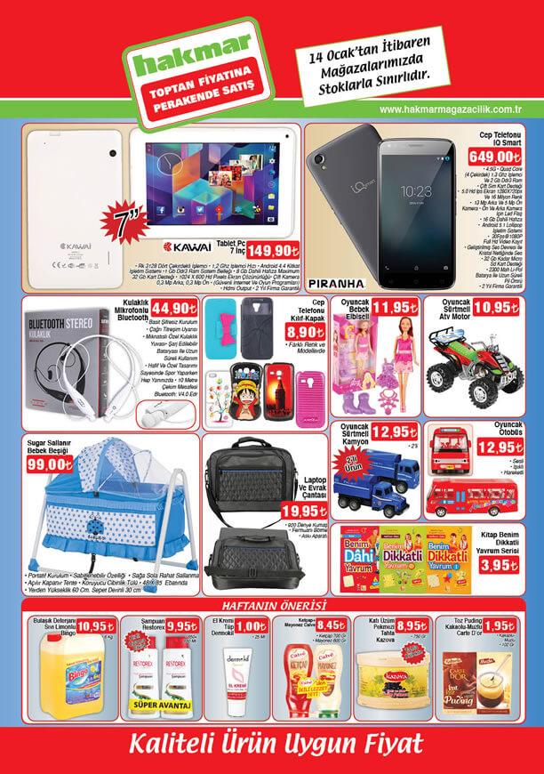 HAKMAR Aktüel Ürünler 14 Ocak 2016 Broşürü - Piranha IQ Smart Cep Telefonu