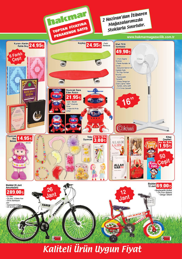 HAKMAR Aktüel Ürünler 2 Haziran 2016 Katalogu - 26 Jant Bisiklet