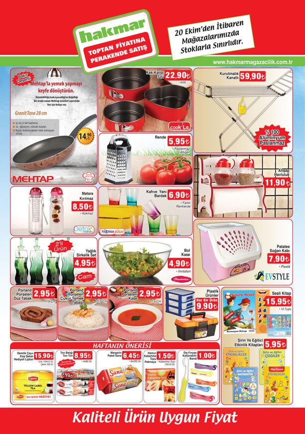 HAKMAR Aktüel Ürünler 20 Ekim 2016 Katalogu - Mehtap Granit Tava