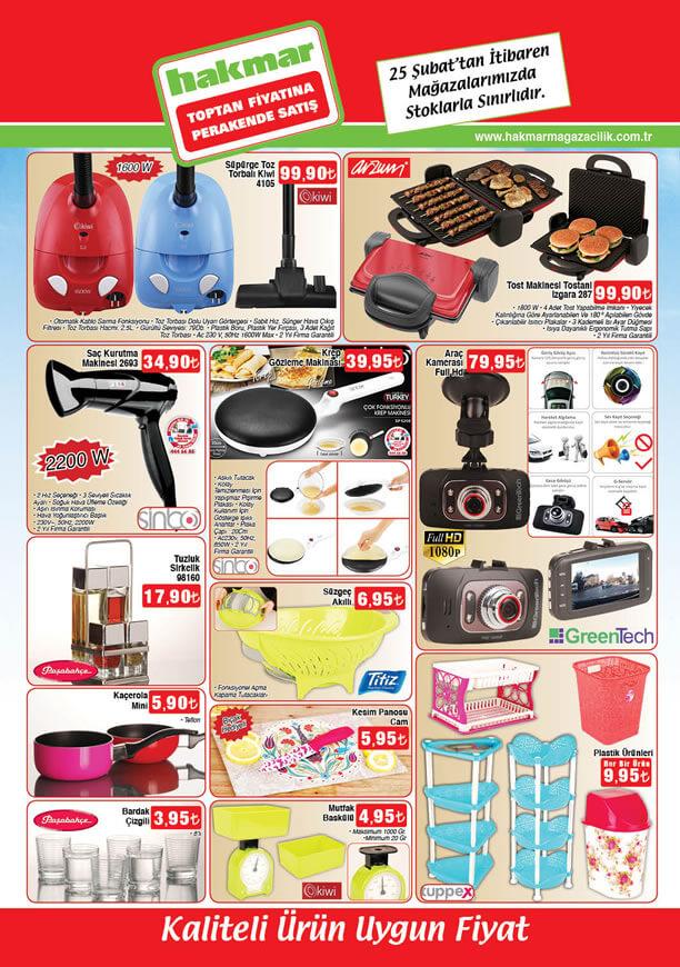 HAKMAR Aktüel Ürünler 25 Şubat 2016 Katalogu - Arzum Tostani Tost Makinesi