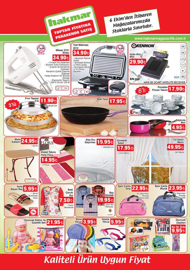 HAKMAR Aktüel Ürünler 6 Ekim 2016 Katalogu - Sinbo Mikser