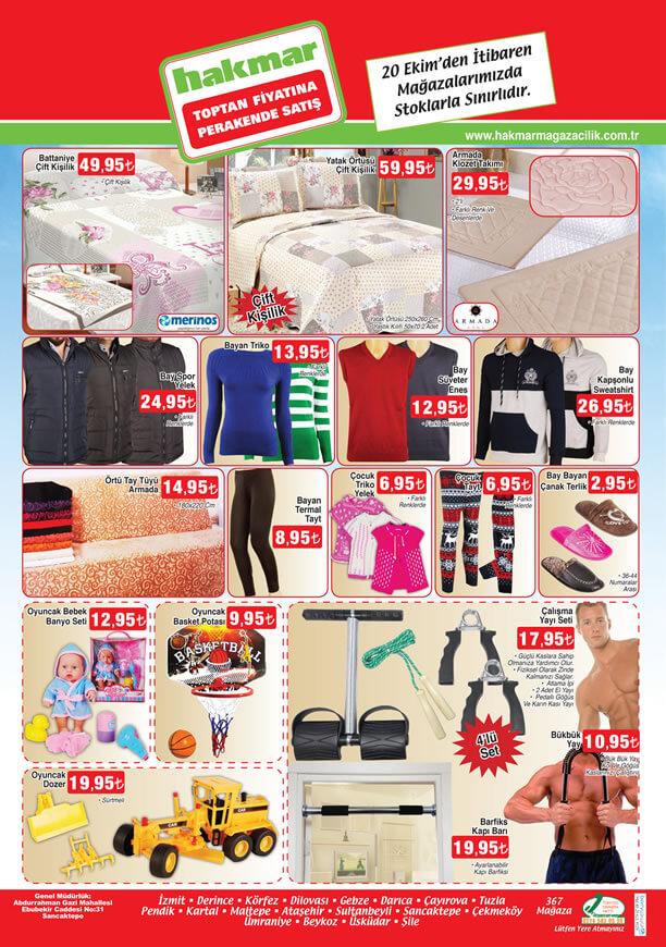 HAKMAR Fırsat Ürünleri 20 Ekim 2016 Katalogu - Çift Kişilik Yatak Örtüsü