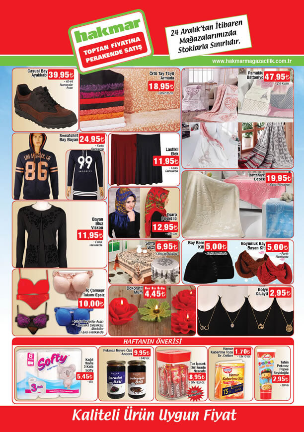 HAKMAR Fırsat Ürünleri 24 Aralık 2015 Katalogu