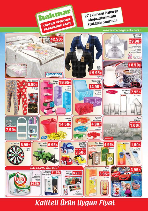 HAKMAR Fırsat Ürünleri 27 Ekim 2016 Katalogu - Merinos Battaniye