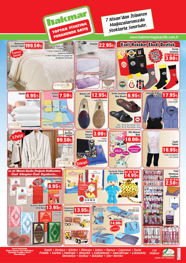 HAKMAR Fırsat Ürünleri 7 - 13 Nisan 2016 Katalogu