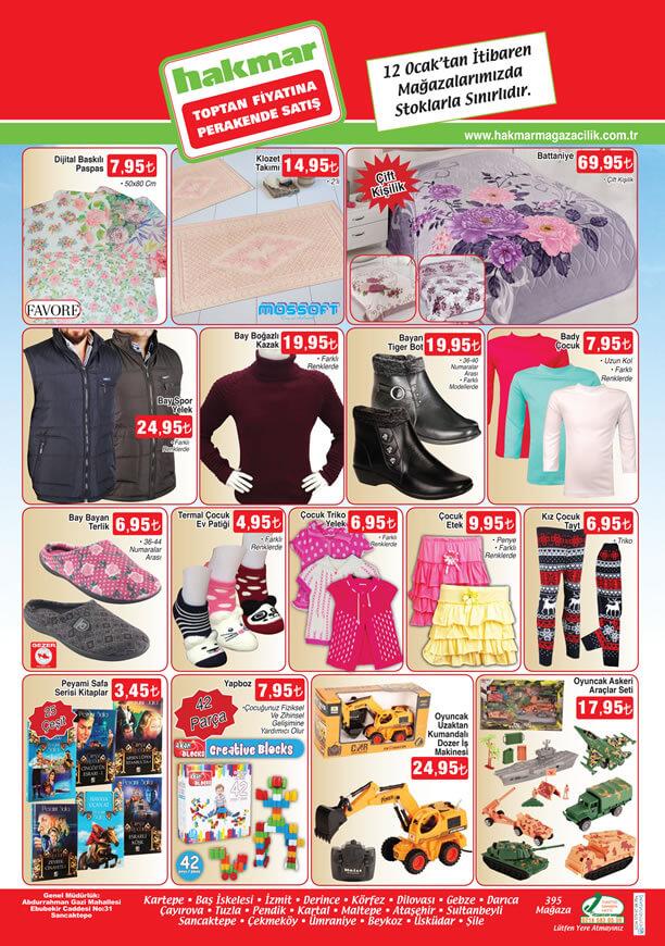 HAKMAR Market 12 Ocak 2017 Katalogu - Çift Kişilik Battaniye