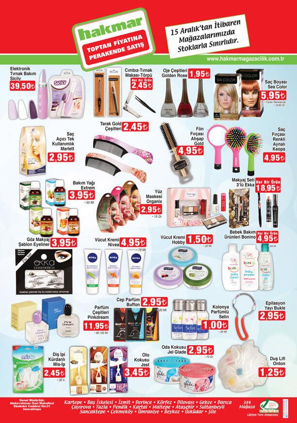 HAKMAR Market 15 Aralık 2016 Katalogu - Kişisel Bakım Ürünleri