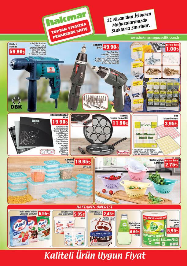 HAKMAR Market 21.04.2016 Perşembe Katalogu - DBK Darbeli Matkap