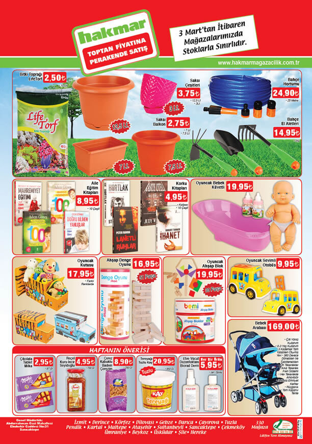 HAKMAR Market 3 - 9 Mart 2016 Katalogu - Bebek Arabası