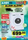 A101 21 Aralık 2017 Aktüel Ürünler  - SEG SCM 7101 Çamaşır Makinesi