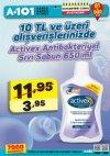A101 21 Nisan - 27 Nisan 2018 Kataloğu - Activex Antibakteriyel Sıvı Sabun