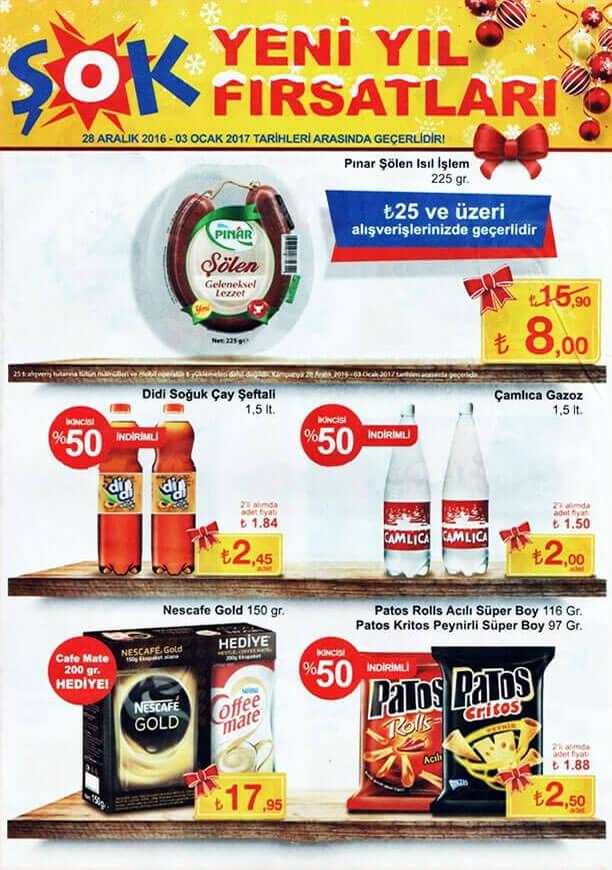 ŞOK Market Kampanyaları 28 Aralık 2016 Katalogu - %50 İndirim