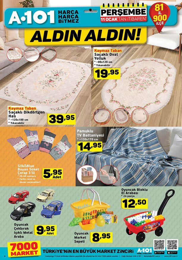 A101 11 Ocak 2018 Aldın Aldın Kampanyası - Pamuklu Tv Battaniyesi
