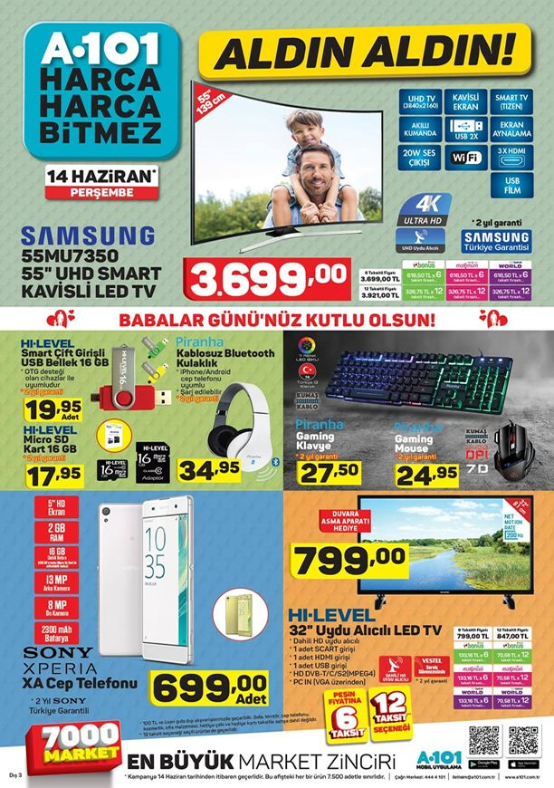 A101 14 Haziran 2018 Aktüel Katalogu - Samsung Smart Led Tv