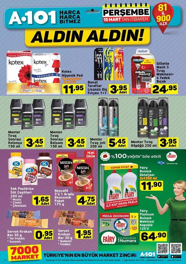 A101 15 Mart 2018 Fırsat Ürünleri Kampanyası