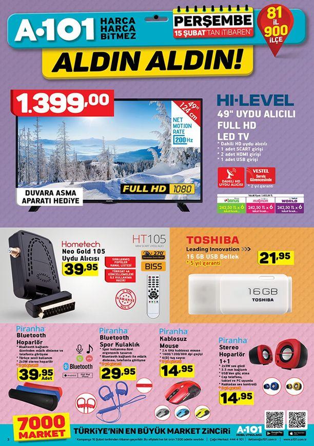 A101 15 şubat 2018 Katalogu - Toshiba USB Bellek