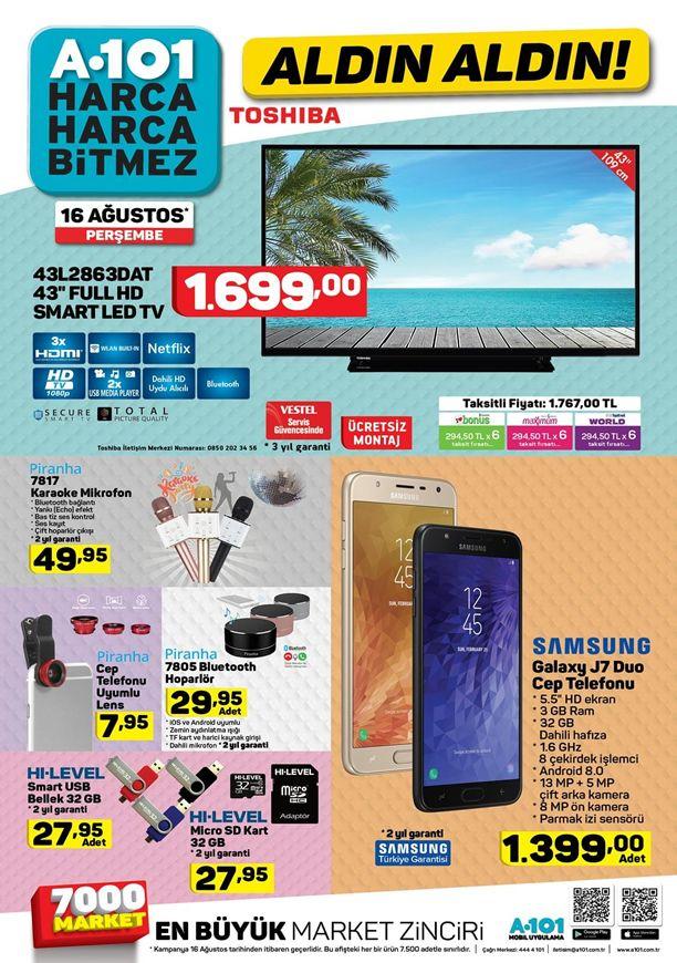A101 16 Ağustos 2018 Kataloğu - Samsung Galaxy J7 Duo Cep Telefonu