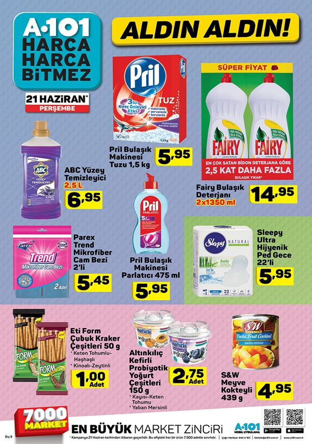 A101 21 Haziran 2018 Fırsat Ürünleri Katalogu