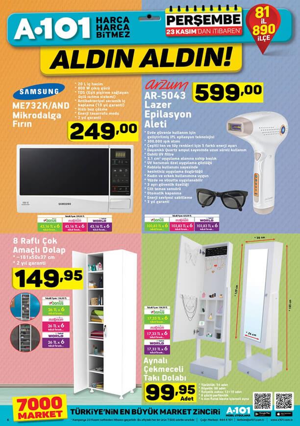 A101 23 Kasım 2017 Kataloğu - Arzum Lazer Epilasyon Aleti