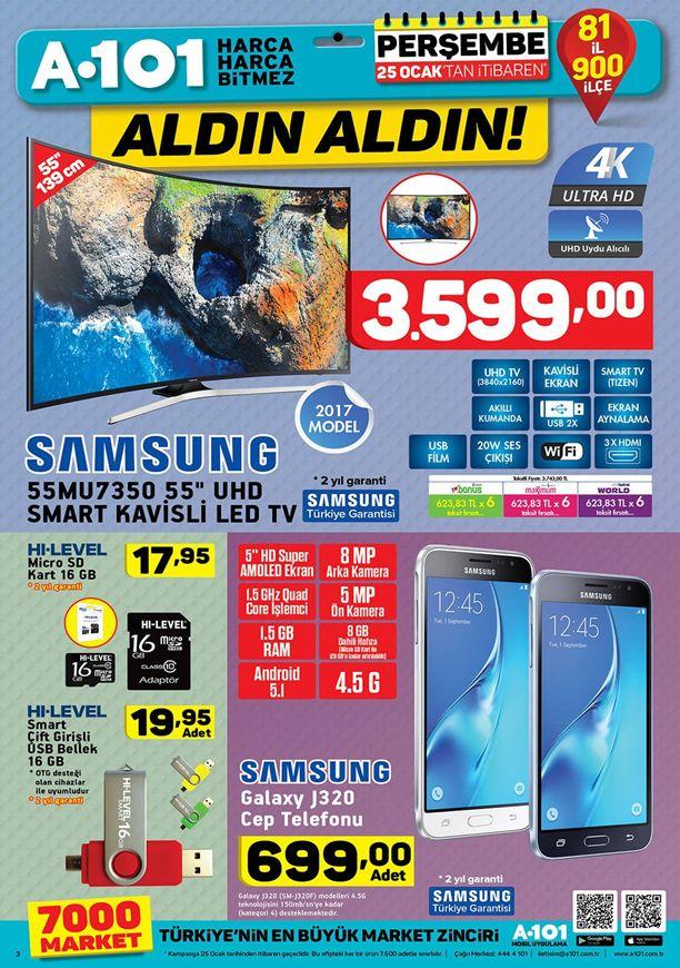 A101 25 Ocak 2018 Kataloğu - Samsung 4K UHD Smart Kavisli Led Tv