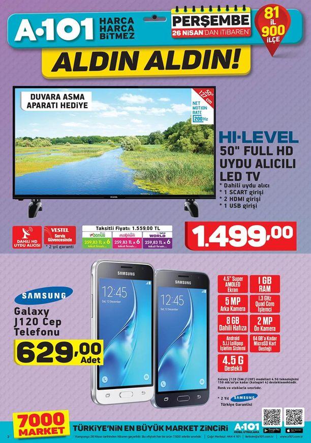 A101 26 Nisan 2018 Kataloğu - Samsung Galaxy J120 Cep Telefonu