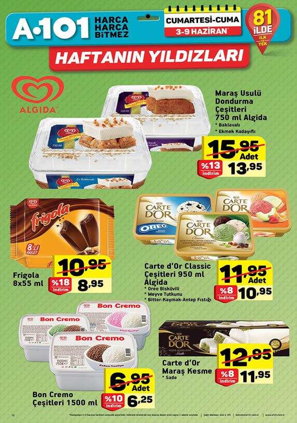 A101 3 Haziran 2017 Dondurma Fiyatları