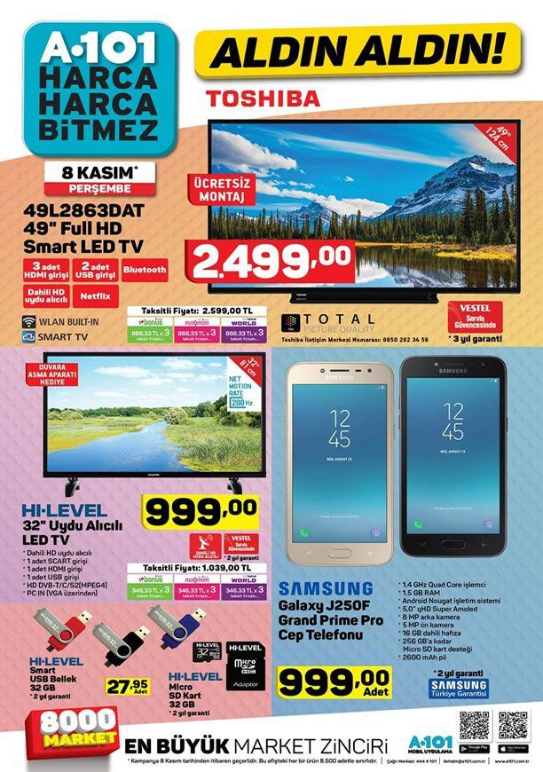 A101 8 Kasım 2018 Kataloğu - Toshiba Full HD Smart Led Tv