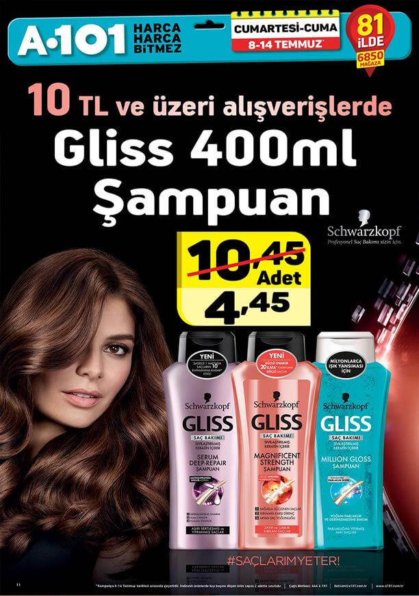 A101 8 Temmuz 2017 Kataloğu - Gliss Şampuan
