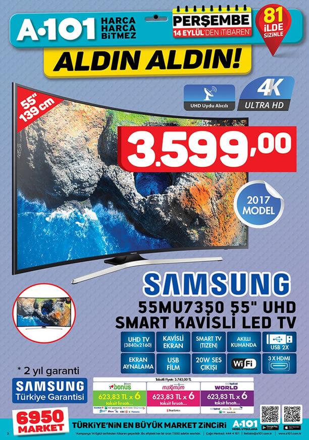 A101 Aktüel 14 Eylül - Samsung Led Tv