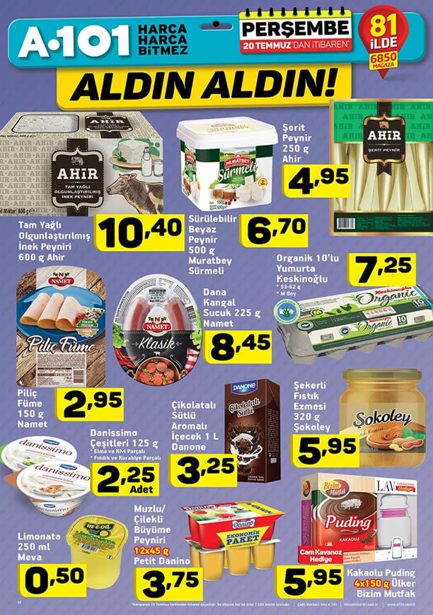 A101 Aktüel 20 Temmuz 2017 - Ahir Şerit Peynir