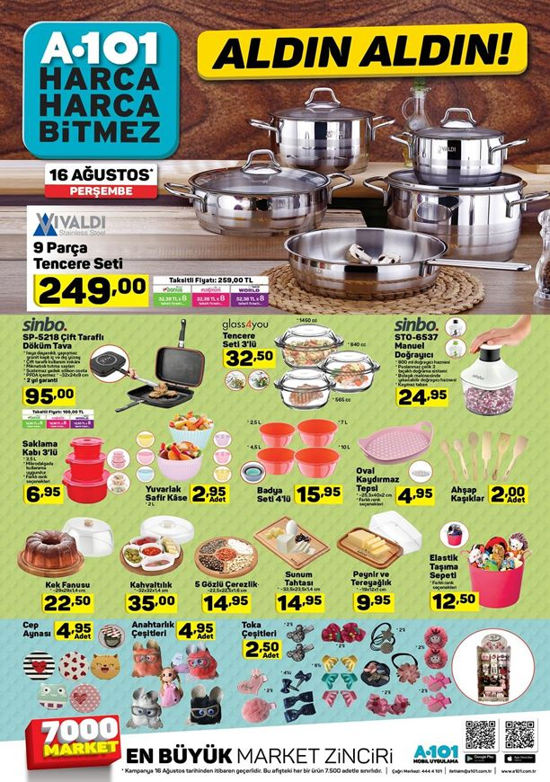 A101 Market 16 Ağustos 2018 Kataloğu - Sinbo Çift Taraflı Döküm Tava