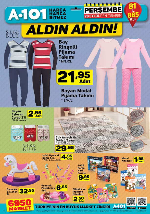 A101 Market 28 Eylül - Bay Ringelli Pijama Takımı