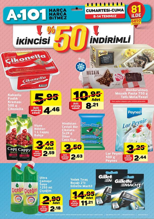 A101 Market 8 Temmuz 2017 Kataloğu - Çikonella