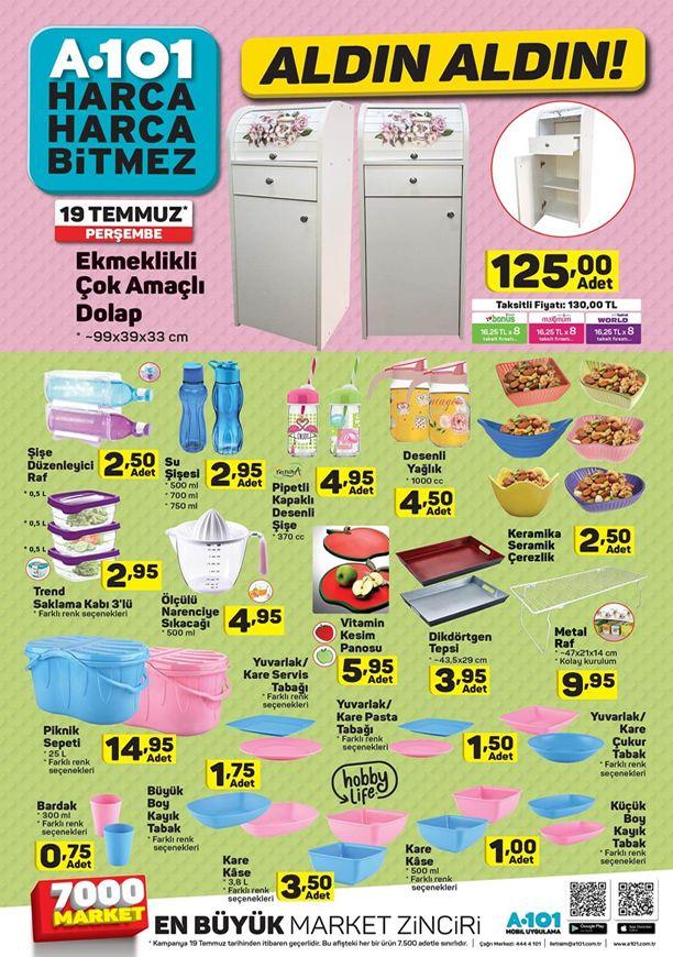 A101 Mutfak Ürünler 19 Temmuz 2018 Kataloğu