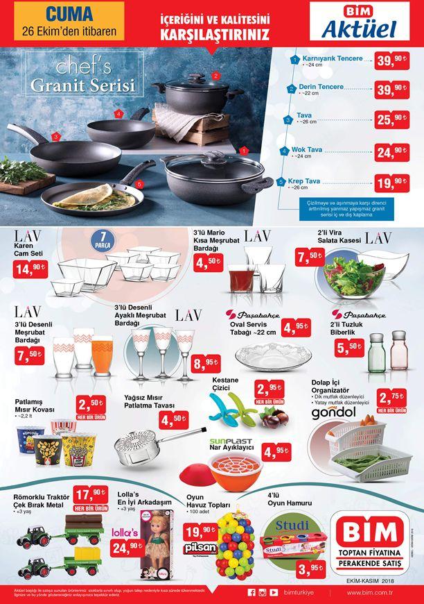 BİM 26.10.2018 Aktüel Kataloğu - Chefs Granit Serisi Tencere ve Tava