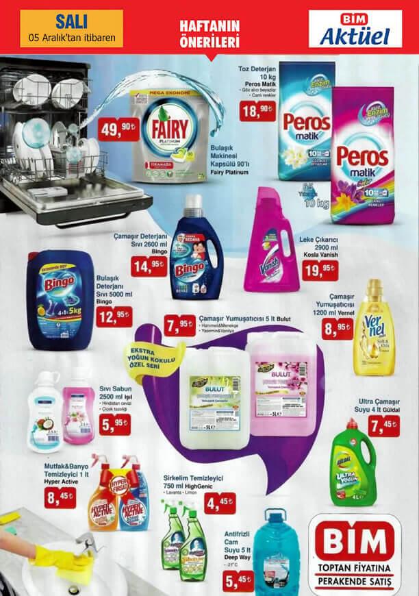 BİM 5 Aralık 2017 Salı İndirimli Ürünler - Temizlik Ürünleri