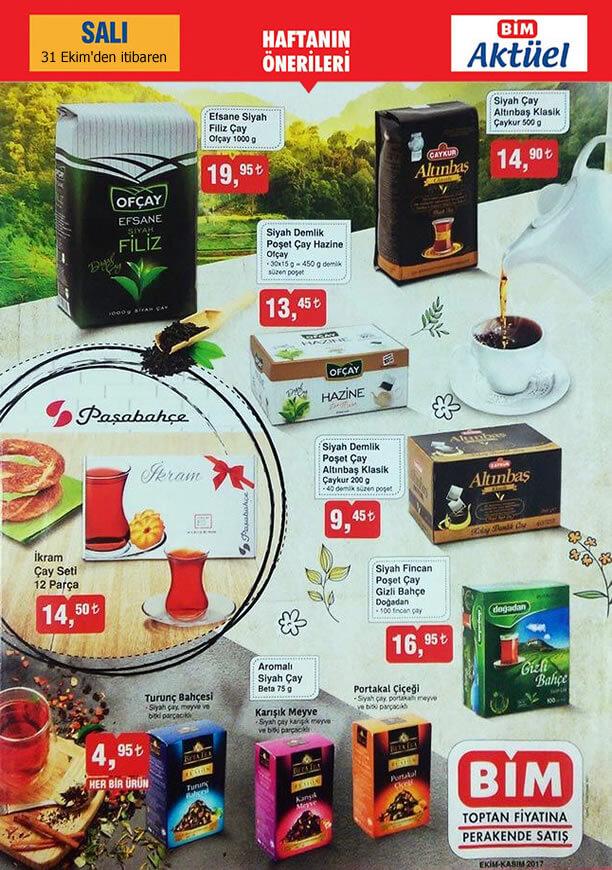 BİM Aktüel 31 Ekim 2017 Salı - Çay Fiyatları