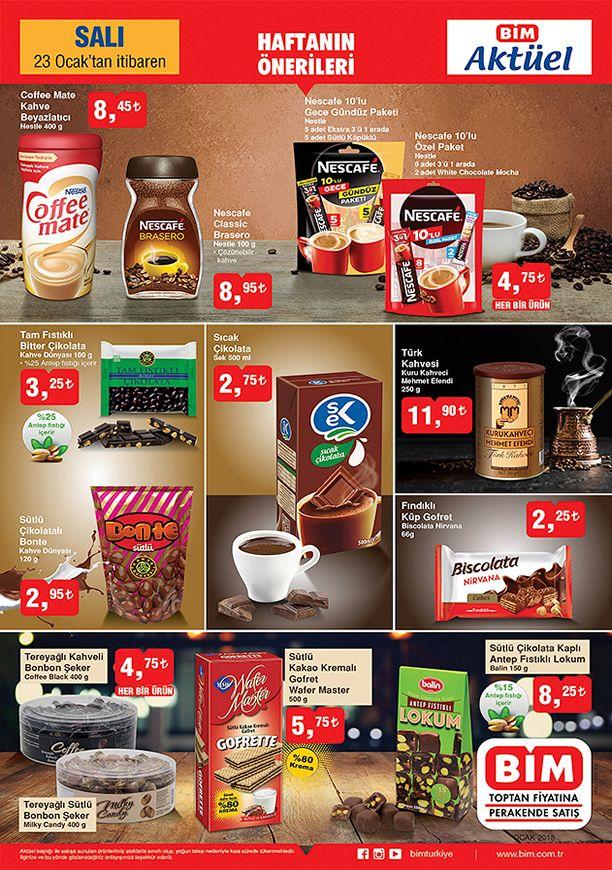 BİM Market 23 Ocak 2018 Salı Fırsatları - Kahve Fiyatları