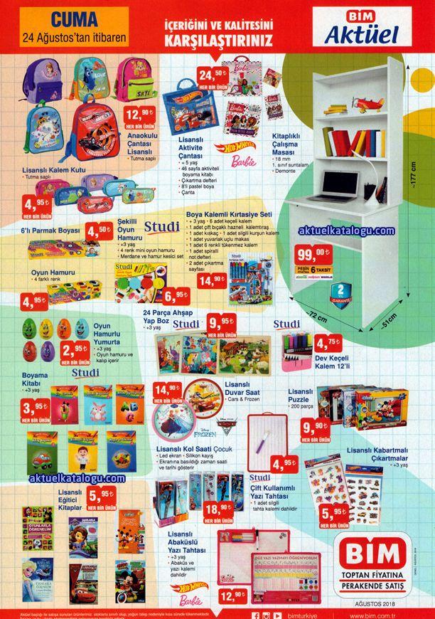 BİM Okul Malzemeleri - BİM Market 24 Ağustos 2018 Kataloğu