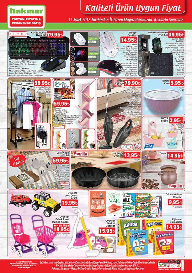 Hakmar Aktüel 15 Mart 2018 Katalogu - Klavye Mouse Oyun Seti