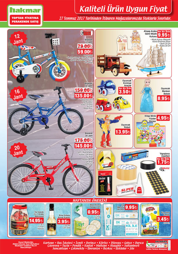 Hakmar Aktüel 27 Temmuz - 20 Jant Bisiklet