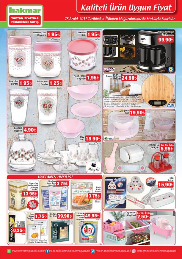 Hakmar Aktüel 28 Aralık 2017 - Kahve Makinesi