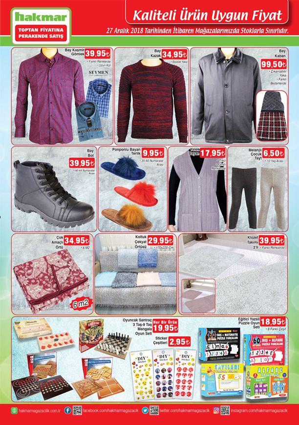 Hakmar Market 27.12.2018 Perşembe Fırsatları - Bay Kaban