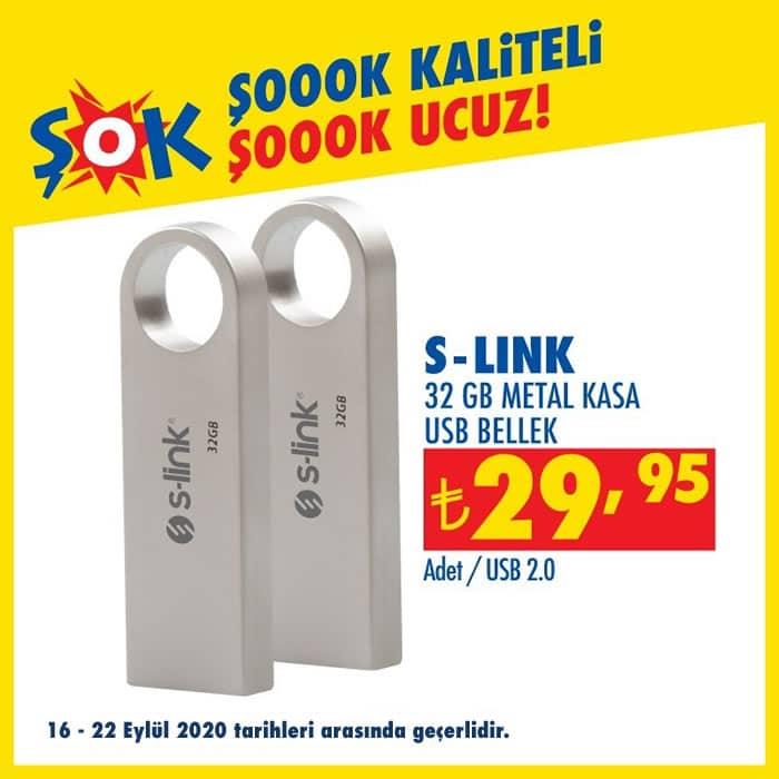 S-Link 32 GB Metal Kasa USB Bellek